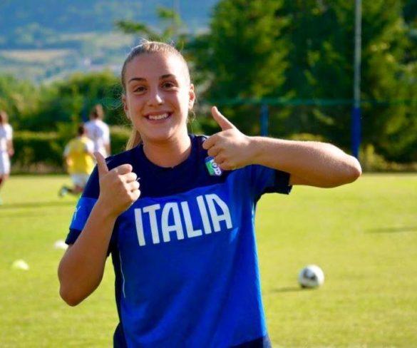 Gloria Marinelli in Olanda con la Nazionale Under 19