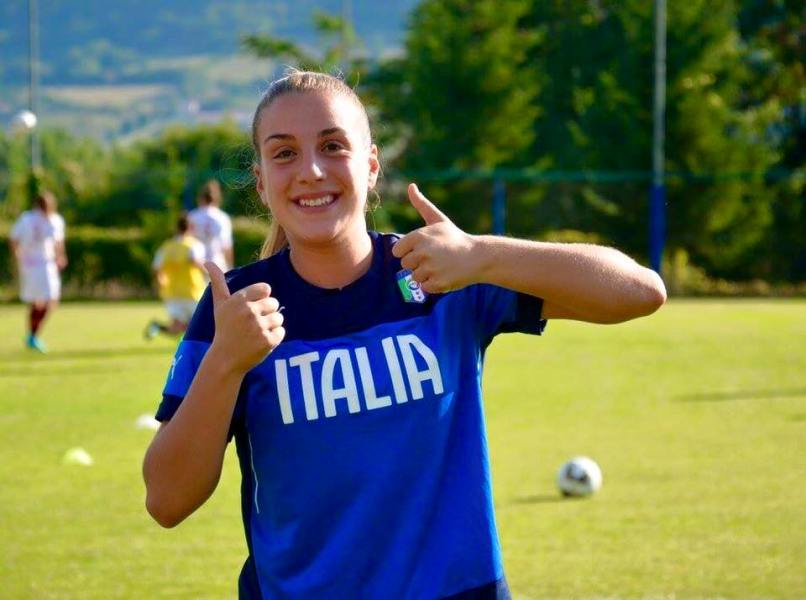 Gloria Marinelli in Olanda con la Nazionale Under 19