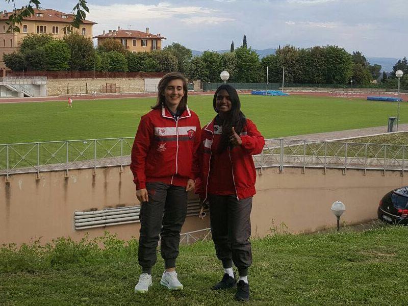 Anche due ragazze della Grifo Perugia tra i tedofori per la fiaccolata in onore di Santa Rita